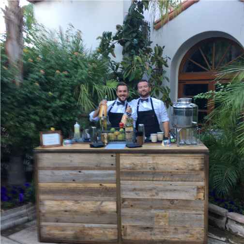 bartenders in courtyard copy