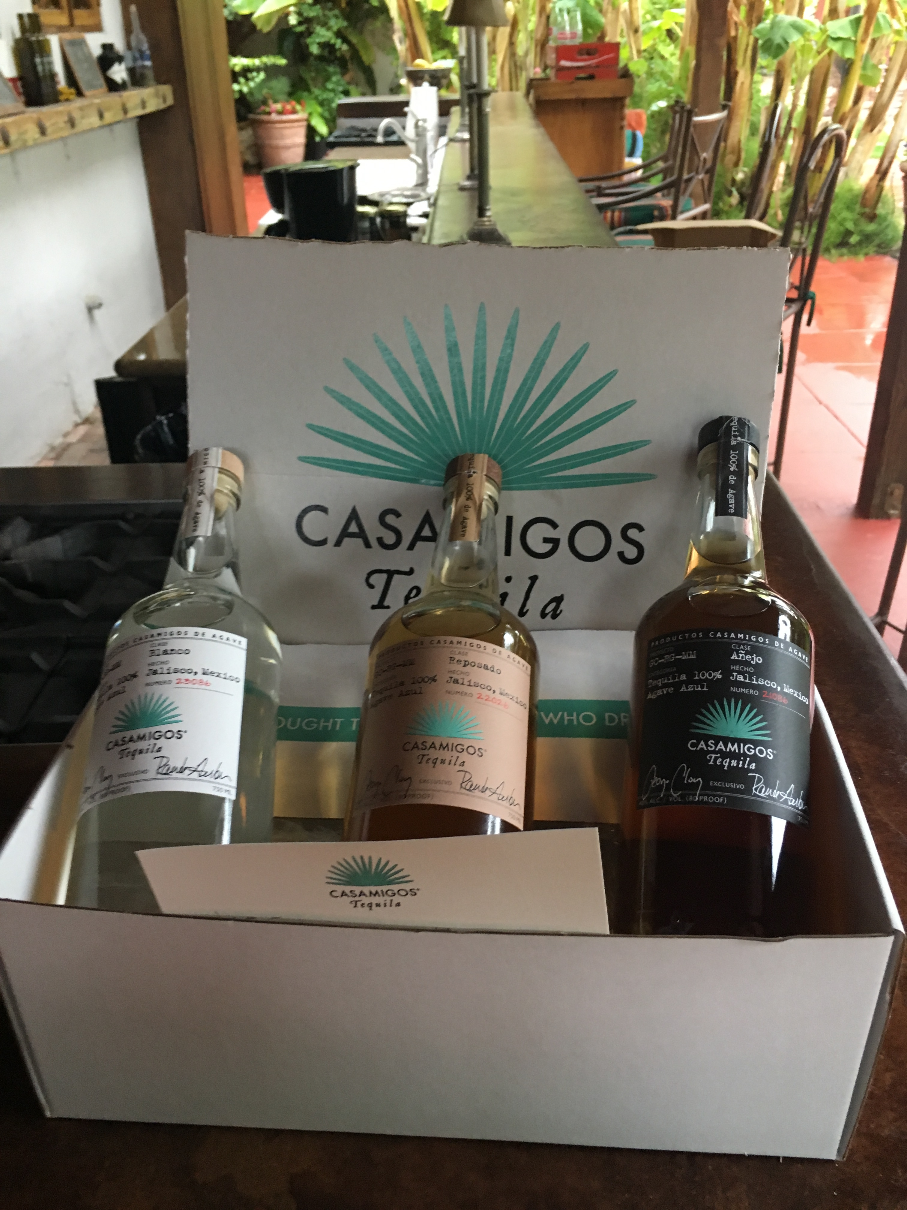 CasaMigos Bottles at Casa de Monte Vista