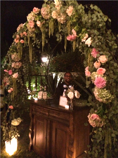 bar arch of flowers